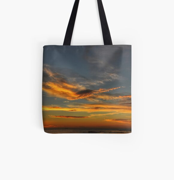 Crossed Clouds All Over Print Tote Bag