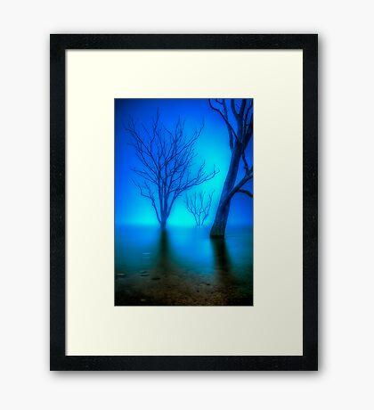 Foggy Dawn at Lake Eildon #3 Framed Print