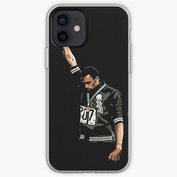 1968 Olympics Black Power Salute Illustration iPhone Soft Case