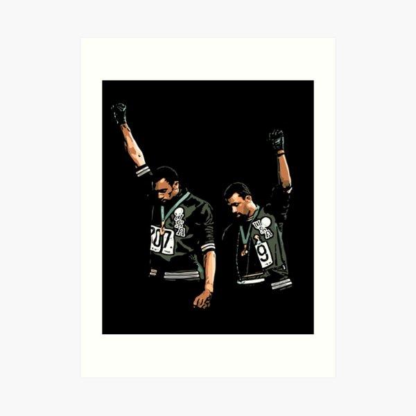 1968 Olympics Black Power Salute Illustration Art Print