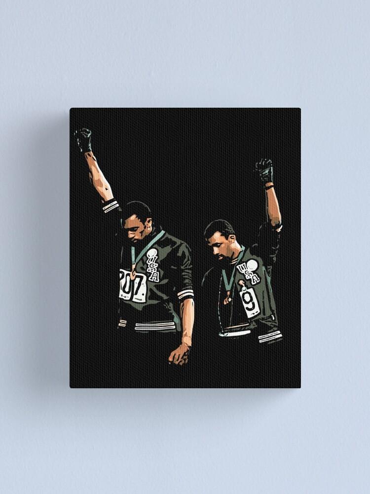 Alternate view of 1968 Olympics Black Power Salute Illustration Canvas Print