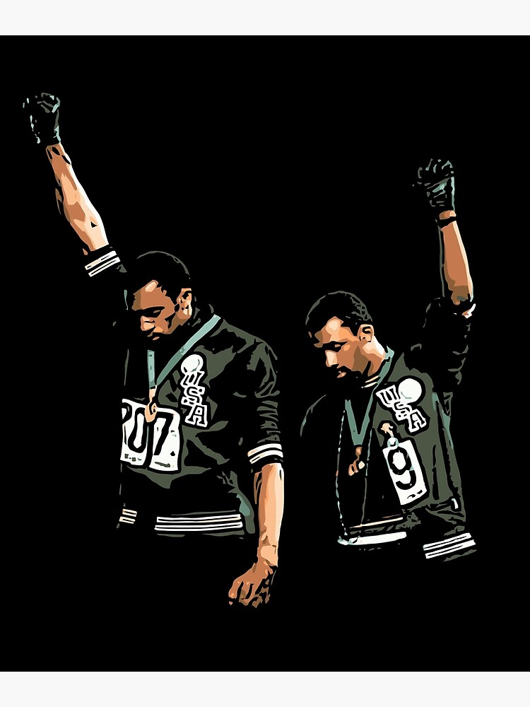 1968 Olympics Black Power Salute Illustration by JeromeArt