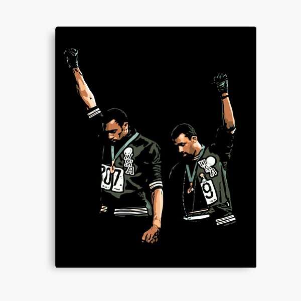 1968 Olympics Black Power Salute Illustration Canvas Print