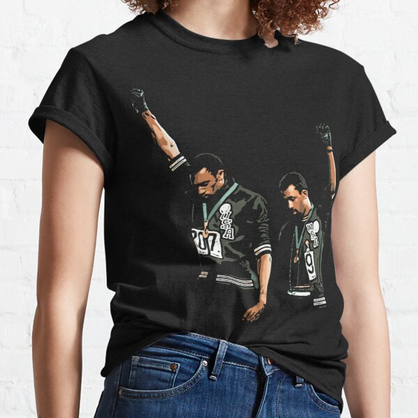 1968 Olympics Black Power Salute Illustration Classic T-Shirt