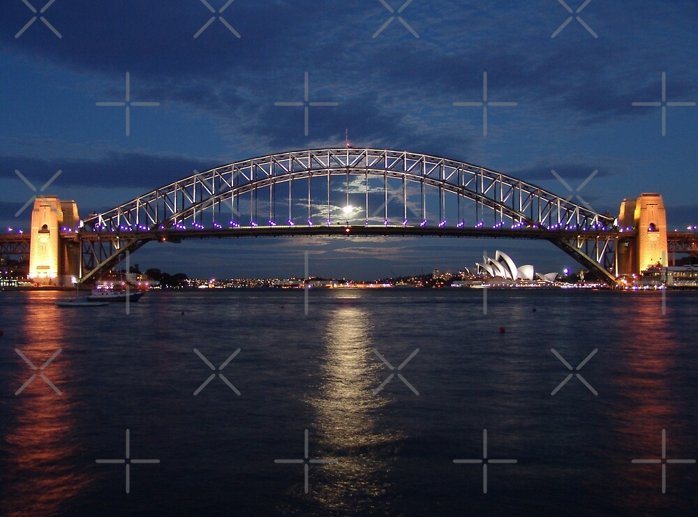 Moon rise over Sydney by Steven Guy