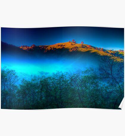 Morning Fog Near Lake Eildon Poster