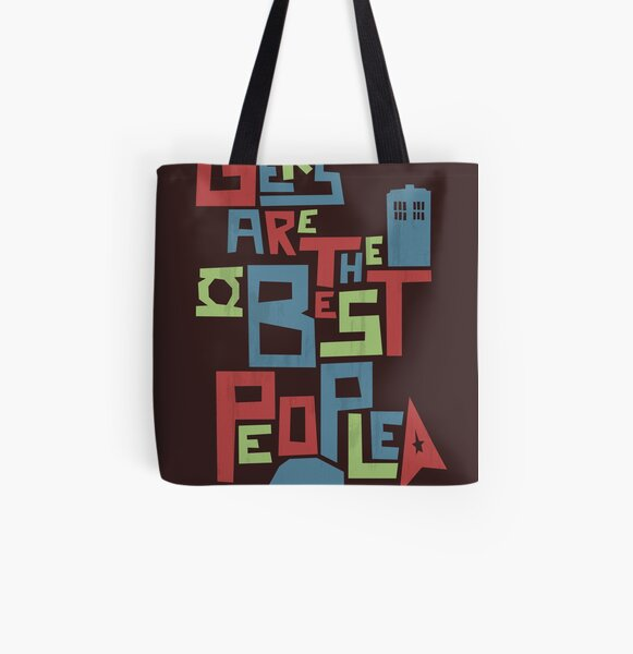 Geeks Are The Best People All Over Print Tote Bag