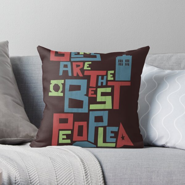 Geeks Are The Best People Throw Pillow