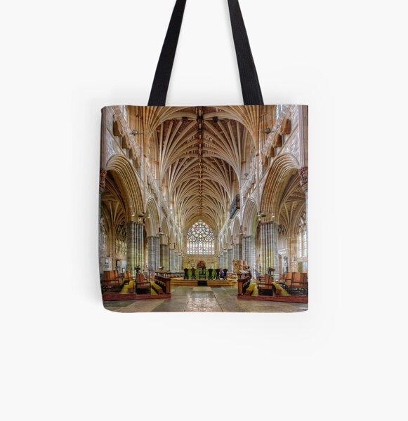 Exeter Cathedral Nave All Over Print Tote Bag
