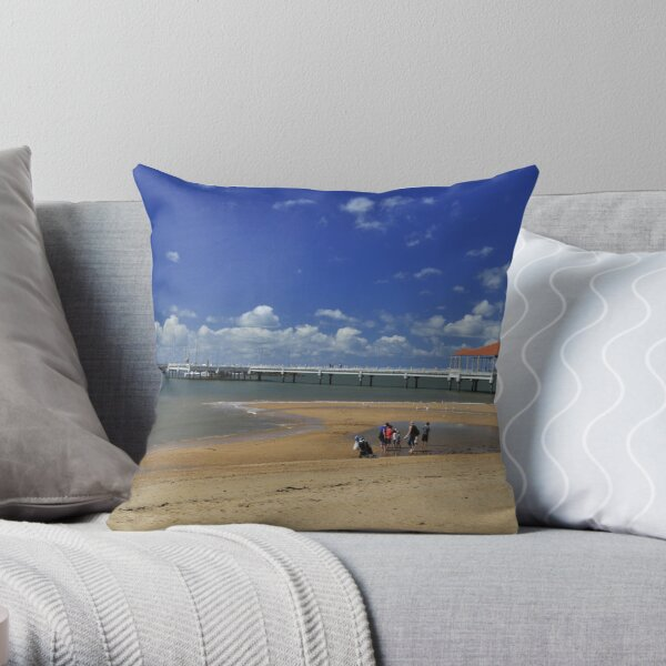 Redcliffe Pier Throw Pillow