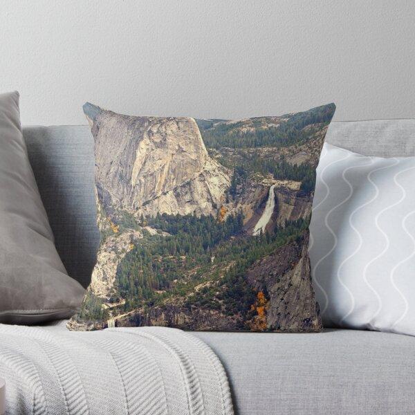 """Merced River Canyon"" Throw Pillow"
