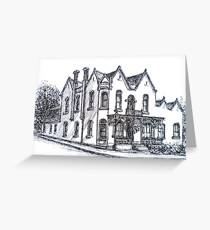 Buninyong, Victoria. The Crown Hotel. 1885. Greeting Card