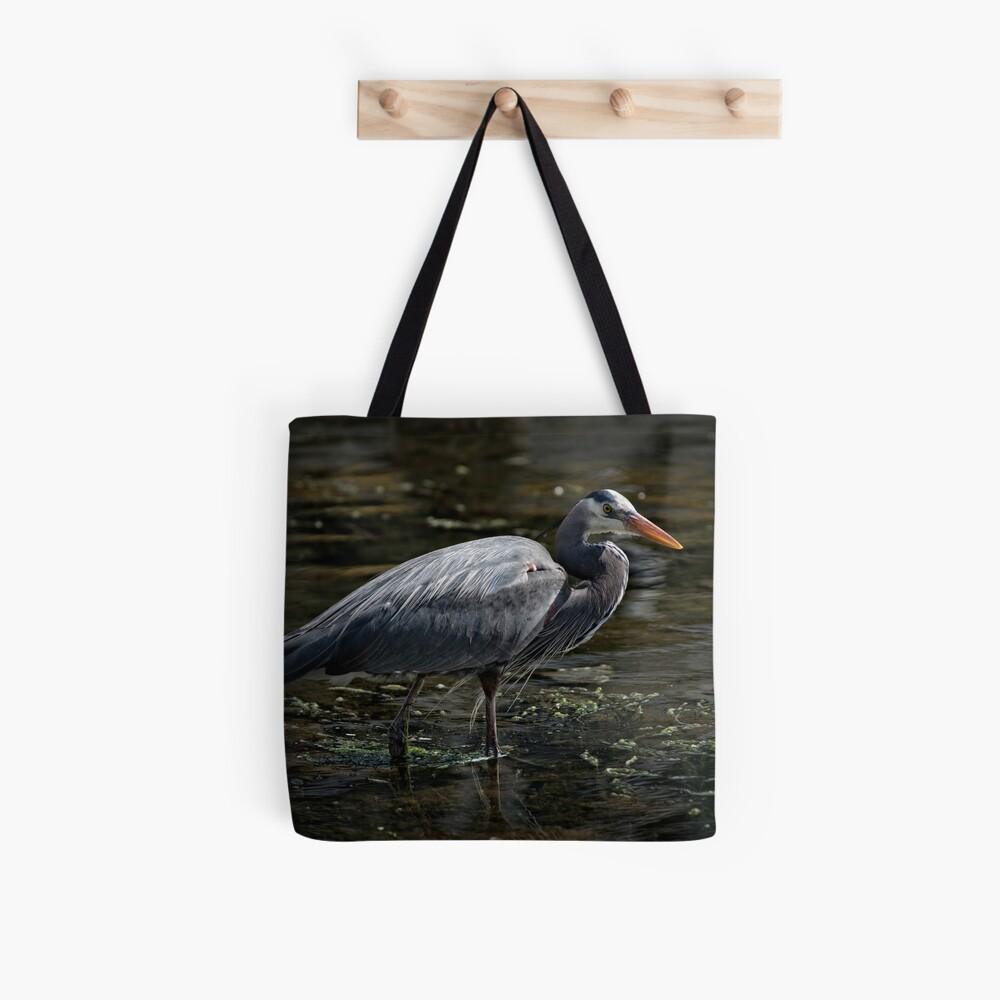 Blue Heron: A Simple Portrait Tote Bag