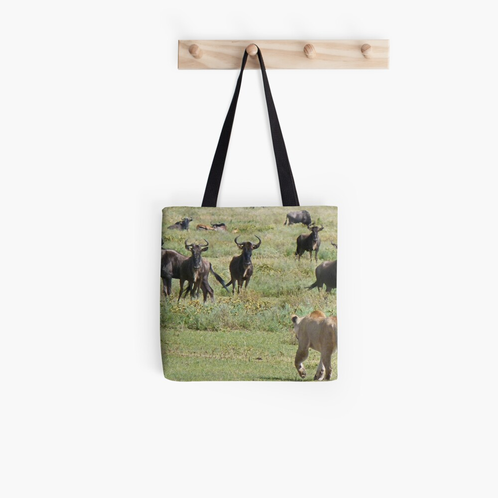 Wildebeast for lunch Tote Bag