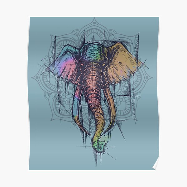 elephant color Poster