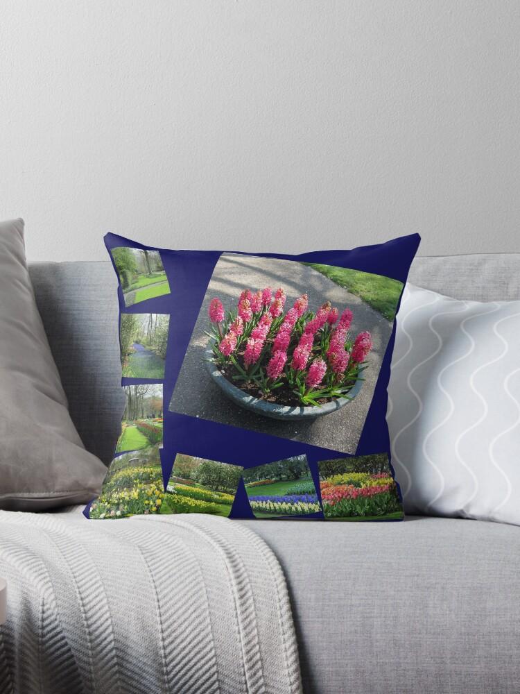 Keukenhof Collage featuring Pink Hyacinths von BlueMoonRose