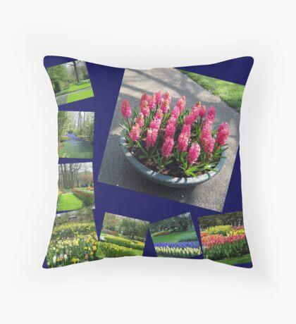 Keukenhof Collage featuring Pink Hyacinths Dekokissen