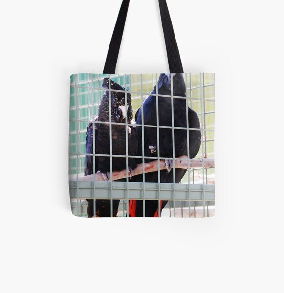 Black cockys Allover-Print Tote Bag