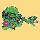 Graffiti~green critter  by DAdeSimone