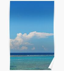 Grand Cayman Blue Water Poster