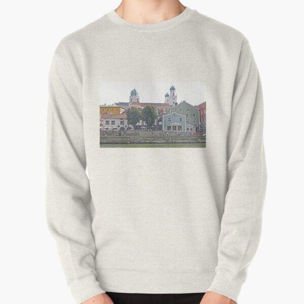Engelhartszell waterfront, Austria Pullover Sweatshirt