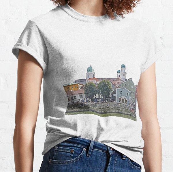 Engelhartszell waterfront, Austria Classic T-Shirt