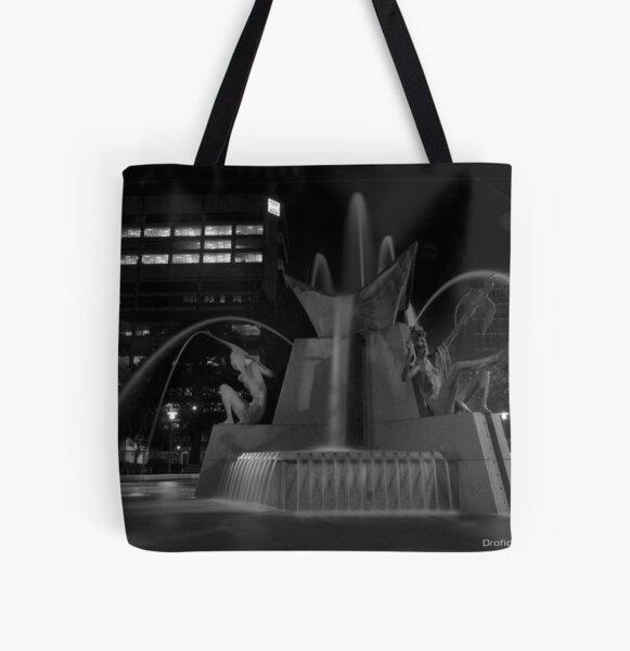 Victoria Square Water Fountain All Over Print Tote Bag