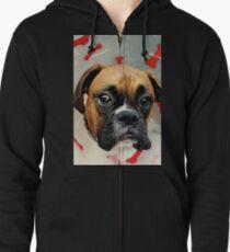 Nicht glücklich - Boxer Dog Series Kapuzenjacke