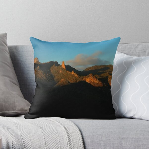 Belougery Spire and Breadknife, NSW. Throw Pillow