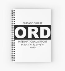 Chicago O'Hare International Airport ORD Spiral Notebook
