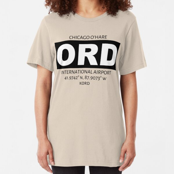 Chicago O'Hare International Airport ORD Slim Fit T-Shirt