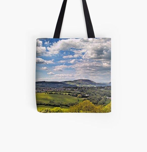 Sun Dappled Hills All Over Print Tote Bag