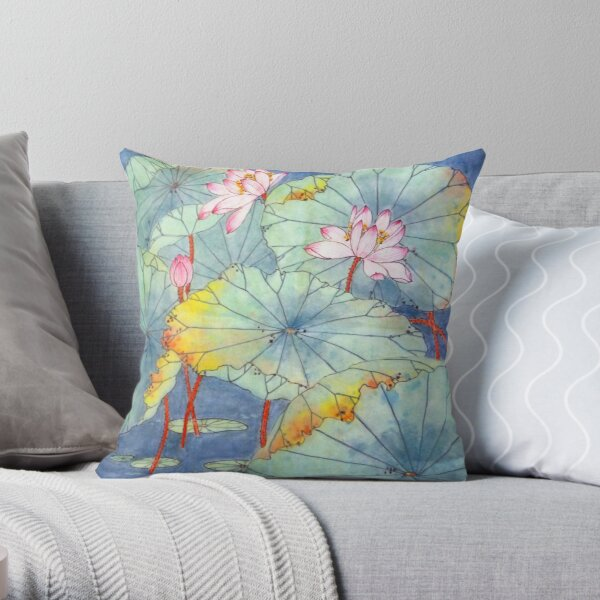 Lotus Glamour Throw Pillow