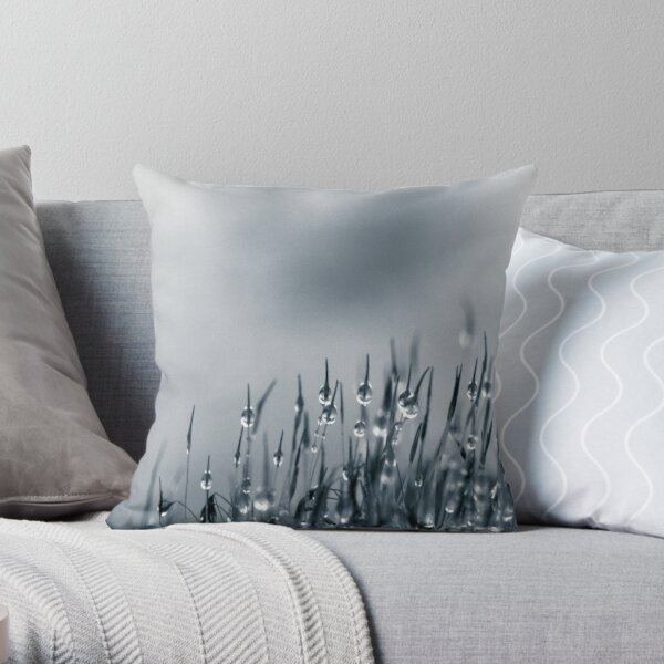 Drops of nature Throw Pillow