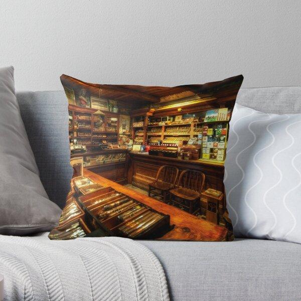 Cigar Shop Throw Pillow