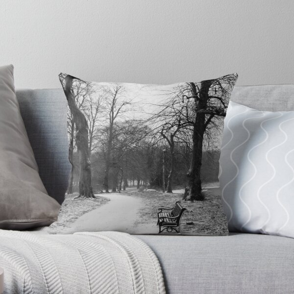 First Signs of Snow Throw Pillow