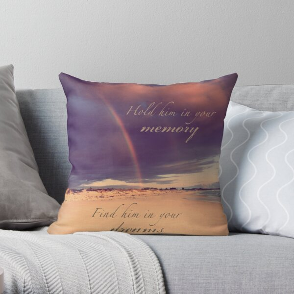 Hold Him In Your Memory Throw Pillow