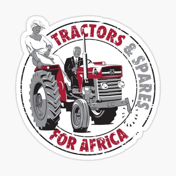 Tractores (y repuestos) para África Pegatina