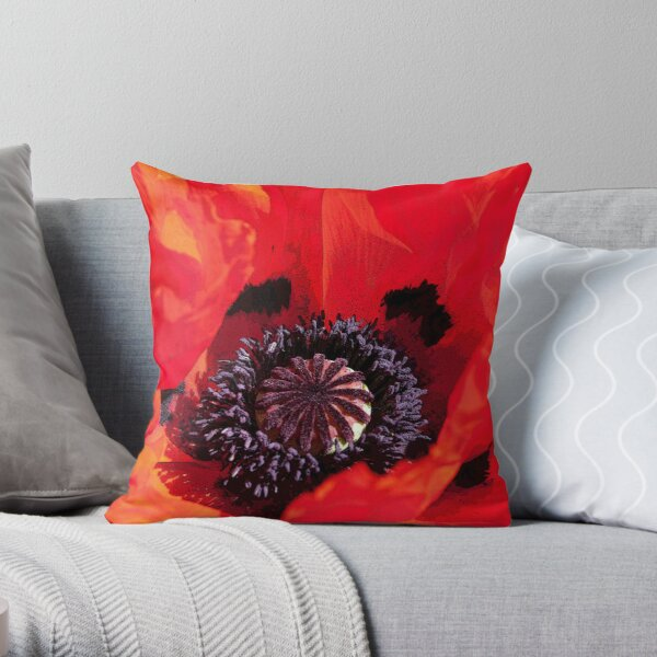 Poppy Blast Throw Pillow