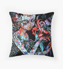 'Catching butterflies' Throw Pillow