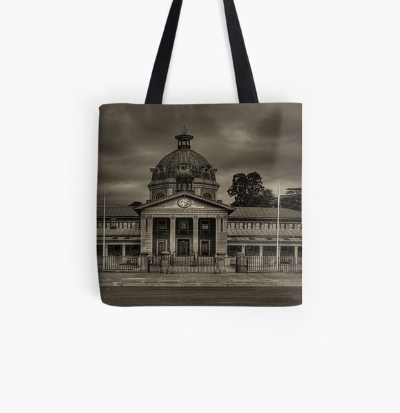Colonial Elegance - Sepia (45 Exposure HDR Panorama) - Bathurst Court House c1880, Bathurst, NSW Australia - The HDR Experience All Over Print Tote Bag