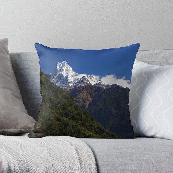 Machhapuchhre. Throw Pillow