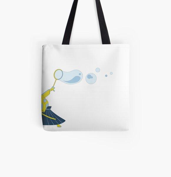 Bubble Samurai All Over Print Tote Bag