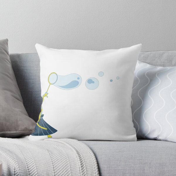 Bubble Samurai Throw Pillow
