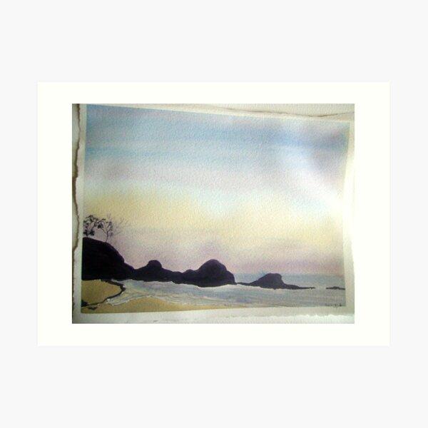 daybreak at little waterloo bay,  Art Print