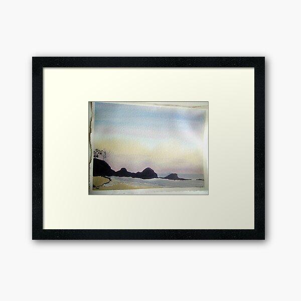 daybreak at little waterloo bay,  Framed Art Print