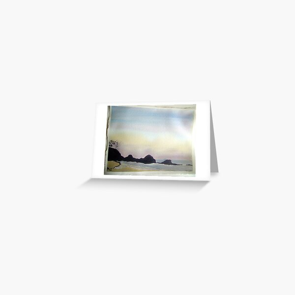daybreak at little waterloo bay,  Greeting Card