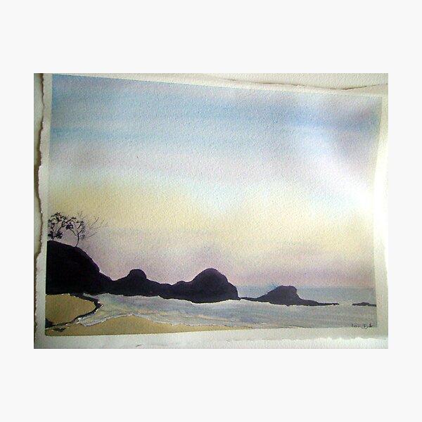 daybreak at little waterloo bay,  Photographic Print