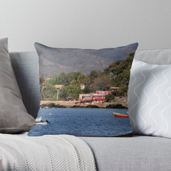 Chile, Bay of Papudo, Throw Pillow