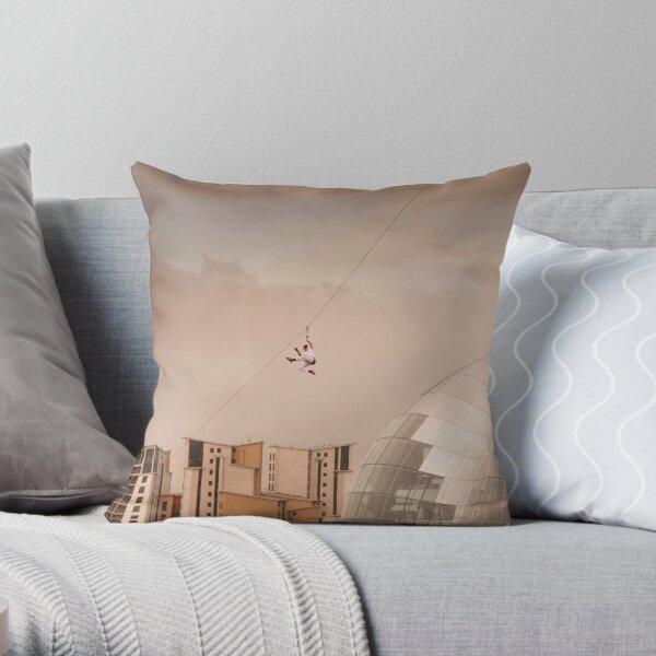 Zip Wire - Bear Grylls Throw Pillow